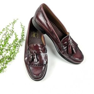 Bass Wine Leather Loafers